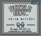Title screen of the game Puzzle Boy on Nintendo Game Boy