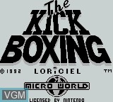 Title screen of the game Kick Boxing, The on Nintendo Game Boy