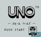 Title screen of the game Uno - Small World on Nintendo Game Boy