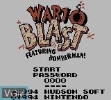 Title screen of the game Wario Blast Featuring Bomberman! on Nintendo Game Boy