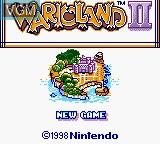 Title screen of the game Wario Land II on Nintendo Game Boy