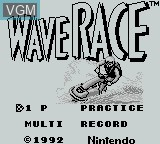 Title screen of the game Wave Race on Nintendo Game Boy