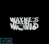 Title screen of the game Wayne's World on Nintendo Game Boy