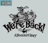 Title screen of the game We're Back! - A Dinosaur's Story on Nintendo Game Boy