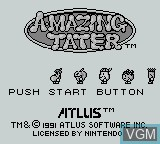 Title screen of the game Amazing Tater on Nintendo Game Boy
