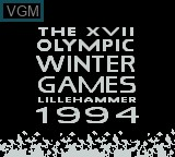 Title screen of the game XVII Olympic Winter Games, The - Lillehammer 1994 on Nintendo Game Boy