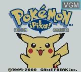 Title screen of the game Pokemon - Edicion Amarilla on Nintendo Game Boy