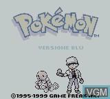 Title screen of the game Pokemon - Versione Blu on Nintendo Game Boy