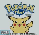 Title screen of the game Pokemon - Versione Gialla on Nintendo Game Boy