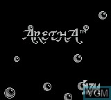 Title screen of the game Aretha on Nintendo Game Boy