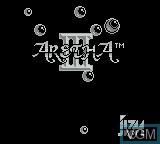 Title screen of the game Aretha III on Nintendo Game Boy