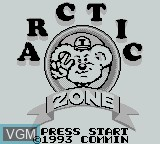 Title screen of the game Arctic Zone on Nintendo Game Boy