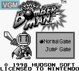 Title screen of the game Pocket Bomberman on Nintendo Game Boy