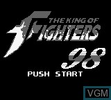 Title screen of the game King of Fighters 98, The on Nintendo Game Boy