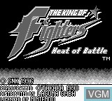Title screen of the game King of Fighters, The - Heat of Battle on Nintendo Game Boy