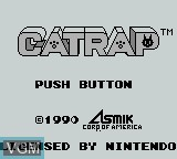 Title screen of the game Catrap on Nintendo Game Boy