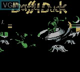 Title screen of the game Daffy Duck - The Marvin Missions on Nintendo Game Boy