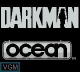 Title screen of the game Darkman on Nintendo Game Boy