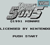 Title screen of the game Double Dribble - 5 on 5 on Nintendo Game Boy
