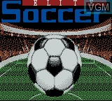 Title screen of the game Elite Soccer on Nintendo Game Boy