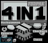 Title screen of the game 4-in-1 Funpak on Nintendo Game Boy