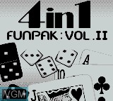Title screen of the game 4-in-1 Funpak Vol. II on Nintendo Game Boy