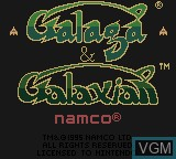 Title screen of the game Galaga & Galaxian on Nintendo Game Boy