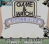 Title screen of the game Game & Watch Gallery on Nintendo Game Boy