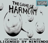 Title screen of the game Game of Harmony, The on Nintendo Game Boy