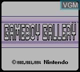 Title screen of the game Gameboy Gallery on Nintendo Game Boy