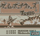 Title screen of the game Gameboy Wars Turbo on Nintendo Game Boy