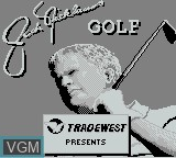 Title screen of the game Jack Nicklaus Golf on Nintendo Game Boy