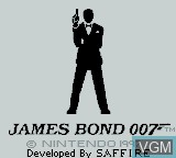 Title screen of the game James Bond 007 on Nintendo Game Boy