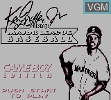 Title screen of the game Ken Griffey Jr. Presents Major League Baseball on Nintendo Game Boy