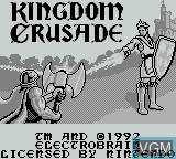 Title screen of the game Kingdom Crusade on Nintendo Game Boy