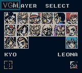 Menu screen of the game Nettou King of Fighters '96 on Nintendo Game Boy