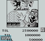 Menu screen of the game Pinball Deluxe on Nintendo Game Boy