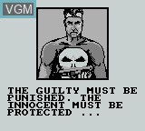 Menu screen of the game Punisher, The - The Ultimate Payback on Nintendo Game Boy