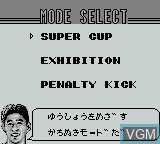 Menu screen of the game Ace Striker on Nintendo Game Boy