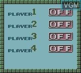 Menu screen of the game Wario Blast Featuring Bomberman! on Nintendo Game Boy