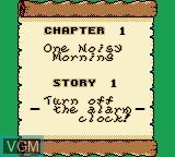 Menu screen of the game Wario Land II on Nintendo Game Boy
