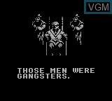 Menu screen of the game Avenging Spirit on Nintendo Game Boy