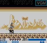 Menu screen of the game Daffy Duck - The Marvin Missions on Nintendo Game Boy