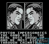 Menu screen of the game Darkman on Nintendo Game Boy