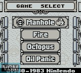 Menu screen of the game Game & Watch Gallery on Nintendo Game Boy