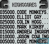 Menu screen of the game Game of Harmony, The on Nintendo Game Boy