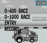 Menu screen of the game Kattobi Road on Nintendo Game Boy