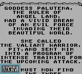 Menu screen of the game Kid Icarus - Of Myths and Monsters on Nintendo Game Boy