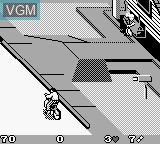In-game screen of the game Paperboy 2 on Nintendo Game Boy