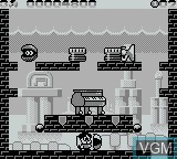 In-game screen of the game Parasol Stars on Nintendo Game Boy